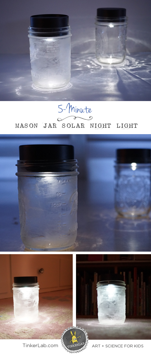 Mason Jar Solar Lights For Kids Tinkerlab Building A Simple Circuit Fun With Pinterest How To Make 5 Minute Night Light Save Money Help