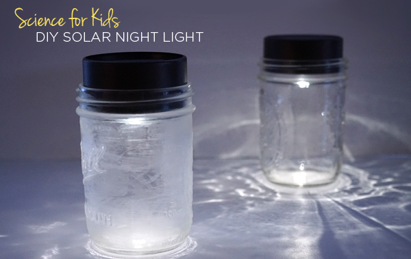 DIY Solar Night Light feature