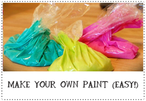 Make your own paint with kitchen supplies