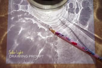 Mason Jar Solar Light Drawing Prompt
