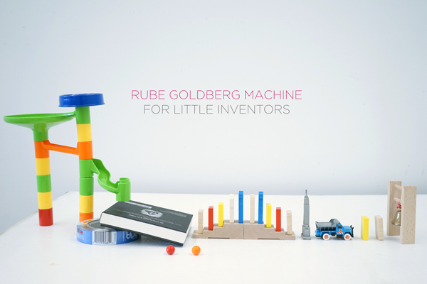 Easy Steps for building a Rube Goldberg Machine with Little Kids | TinkerLab.com