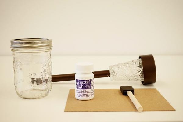 frosted mason jar tutorial