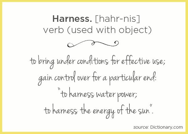 Harness Definition | TinkerLab.com