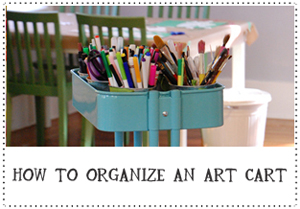 how to organize an art cart