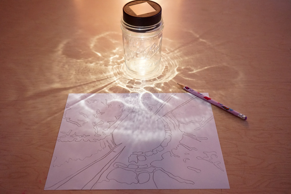 Mason Jar Drawing Prompt for Kids  |  TinkerLab.com