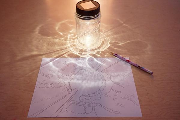 Mason Jar Shadow Drawing Prompt Tinkerlab