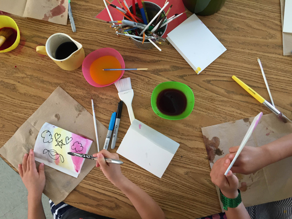 Kids Painting with Natural Dye