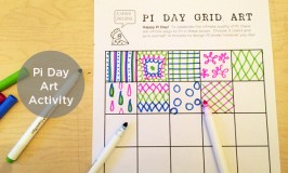 This fun and easy Pi Day Art Activity will get your creativity flowing, and it's a fun way to build enthusiasm around Pi Day | TinkerLab.com
