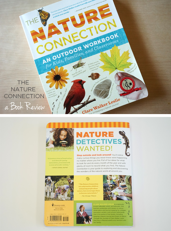 The Nature Connection has been part of our book collection for over a year, and it's been such a worthwhile book for our nature-deprived family that I thought it was high time to review it here. This book is responsible for getting my kids excited about spending time outdoors, and the activities inside are so well designed that once underway it's close to impossible to bring them back inside.