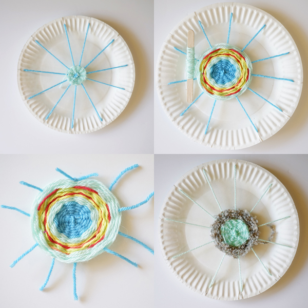 Kids Weaving Project | Circle Weaving Hammock for Dolls  sc 1 st  TinkerLab & Paper Plate Weaving | Make a Doll Hammock | TinkerLab