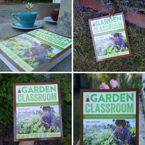 collage of garden classroom book