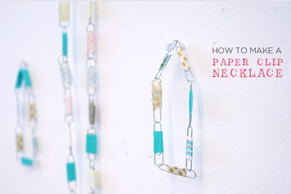 how to make paper clip necklace