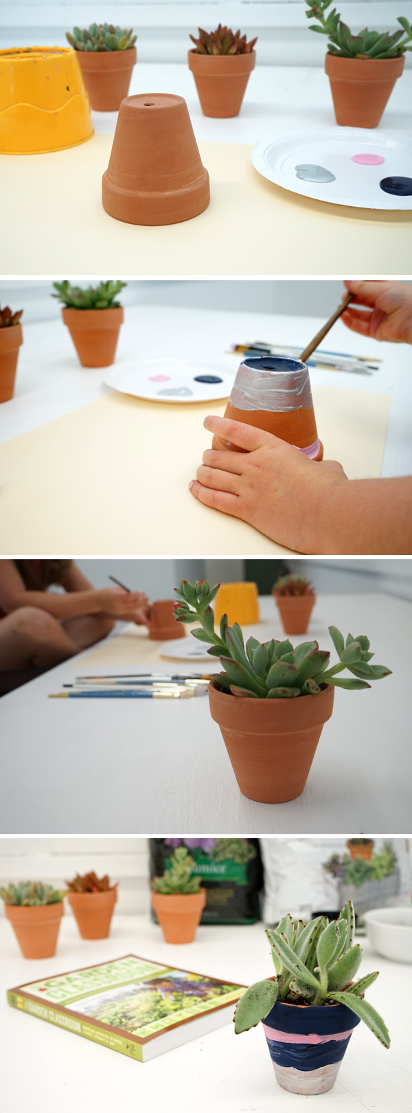 How to paint a flower pot