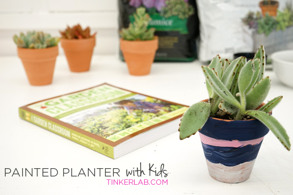 How to paint a planter with kids