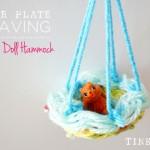 Paper Plate Weaving | Make a Doll Hammock
