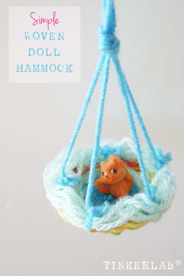 Kids Weaving Project | Circle Weaving Hammock for Dolls