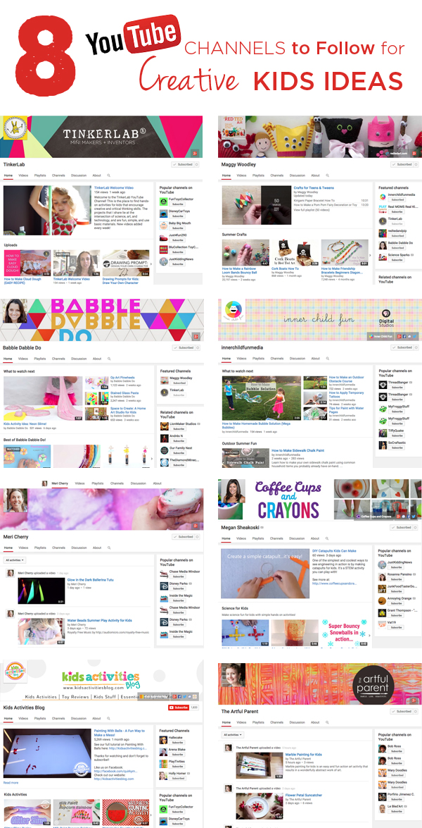 The Best YouTube Channels To Follow For Creative Kids