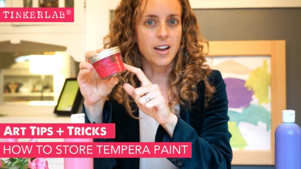 Art Tips and Tricks: How to Store Tempera Paint to Save Paint