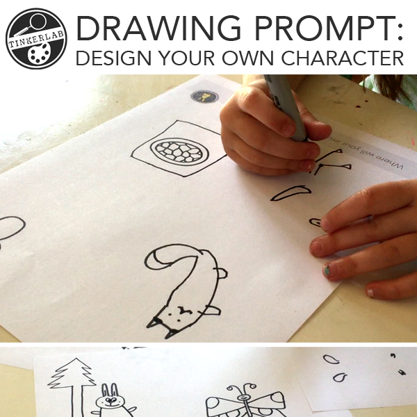 drawing prompt design your own character
