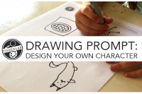 Fun Drawing Prompt Printable: Design your own character