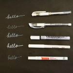 The Best White Pens for Black Paper