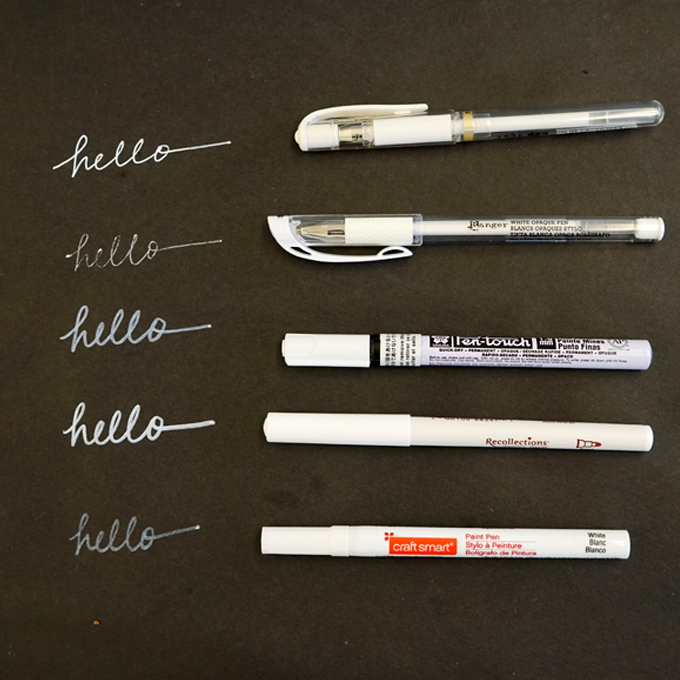 The Best White Pens For Black Paper Tinkerlab