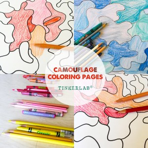 camouflage coloring coloring pages