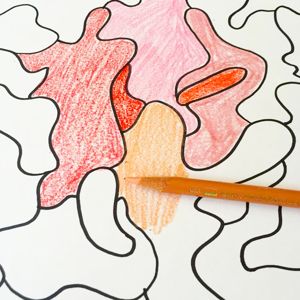 Camouflage Coloring Pages on TinkerLab