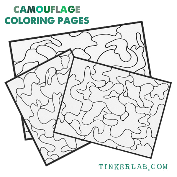 Camouflage Coloring Pages Printable | TinkerLab