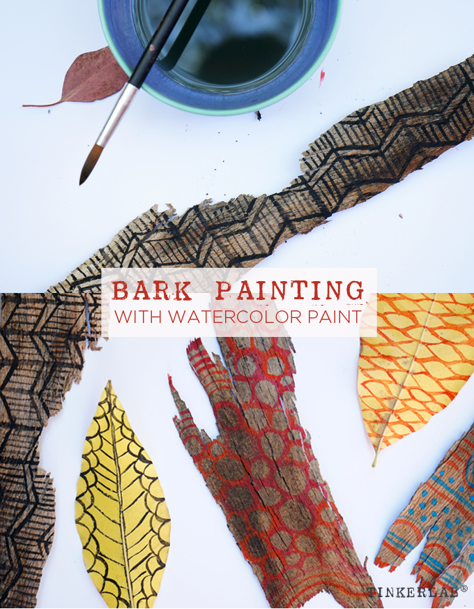 Bark Painting Craft - This is a fun and frugal way to bring more painting into your life.