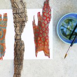 Bark Painting Craft with Watercolor Paint