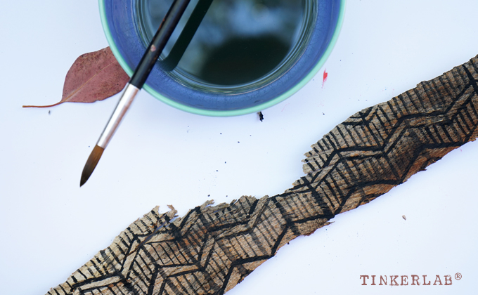bark painting craft