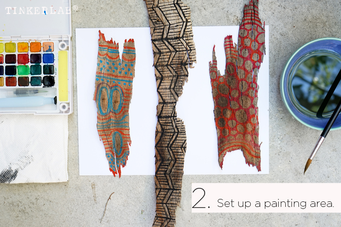 Bark painting lesson plan