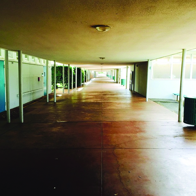 cubberley high school hallway
