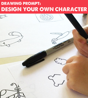 Drawing prompt and printable to design your own character