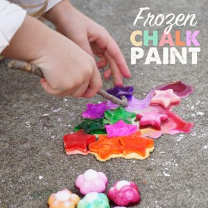 frozen chalk paint square