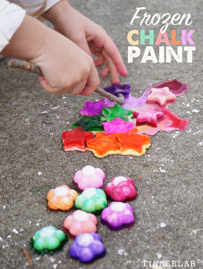 How to make frozen chalk paint with corn starch
