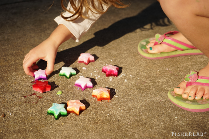 Play with Ice Chalk Paint - A Sensory Experience for Preschool