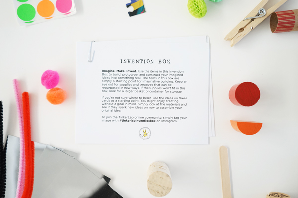 TinkerLab Invention Box Cards