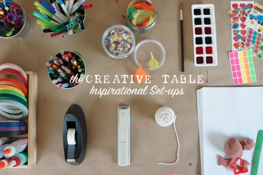 The Creative Table Project: Provocations and Set-ups that foster creative learning.