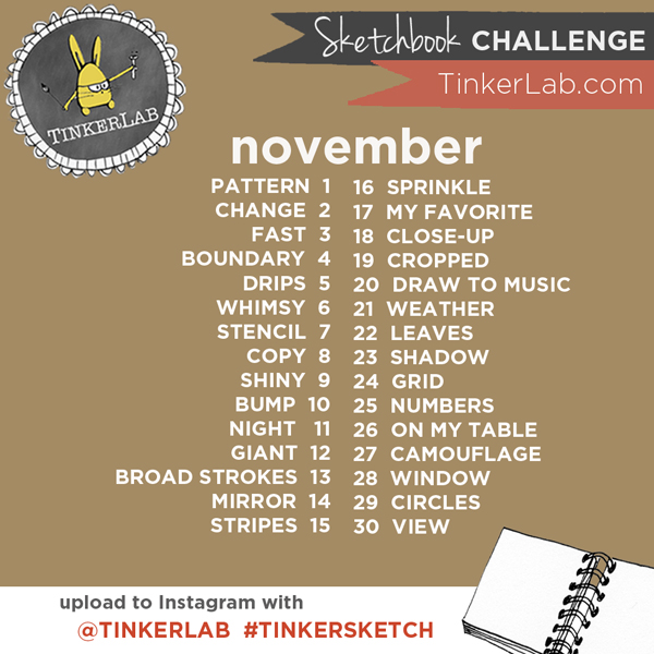 Instagram Tinkersketch Sketchbook Challenge november 2015
