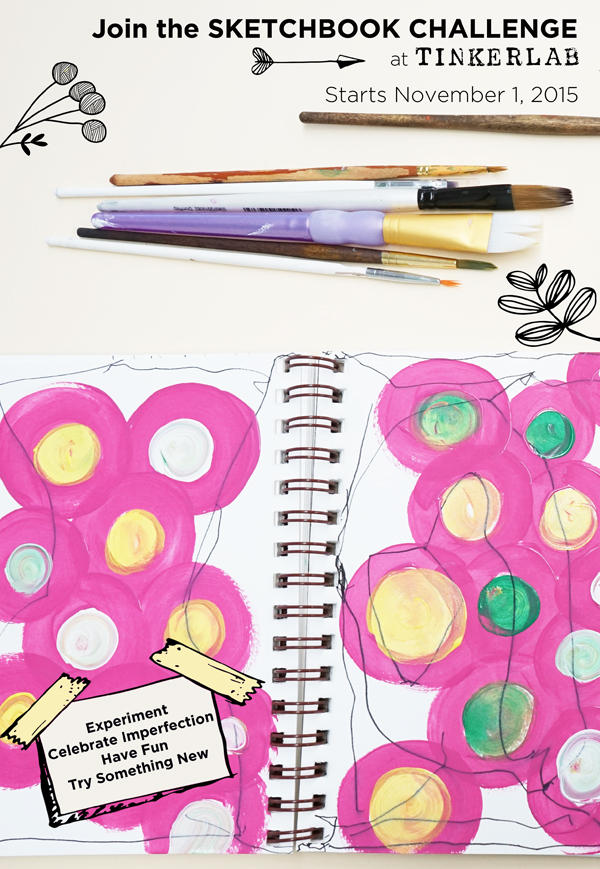 Join the TinkerSketch Sketchbook Challenge in November 2015