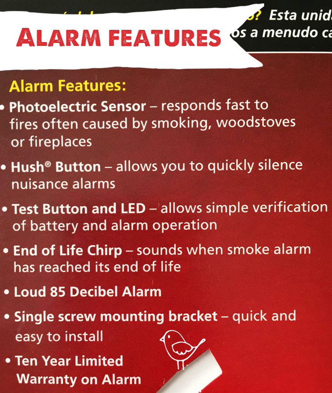 smoke alarm features