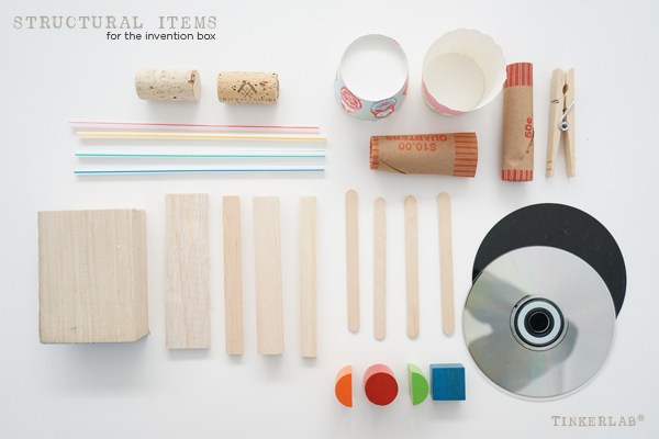 Structural Items for the TinkerLab  Invention Box