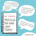 Kid Corner: What Makes a Good Teacher?