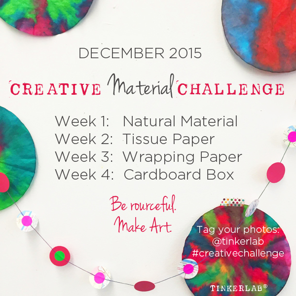 The Creative Material Challenge on Tinkerlab
