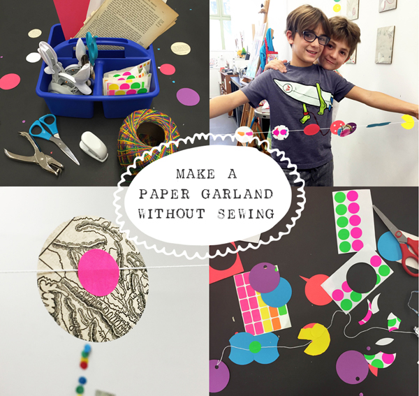 how to make paper garland without sewing
