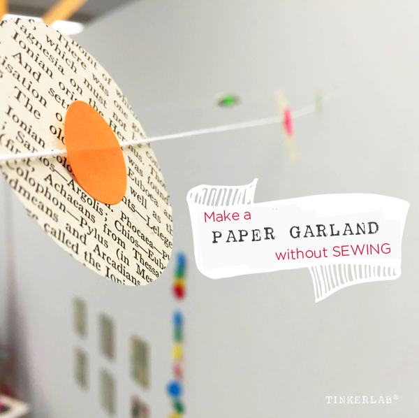 make a paper garland no sew