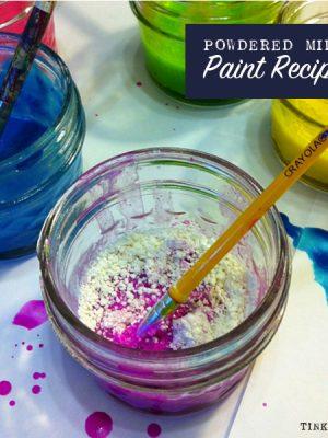 Powdered Milk Paint Recipe | TinkerLab