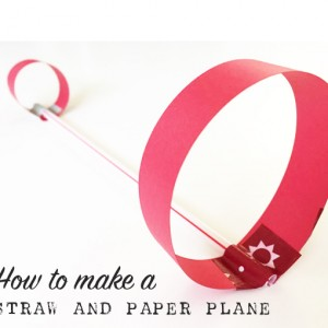 How to make a straw airplane | TinkerLab